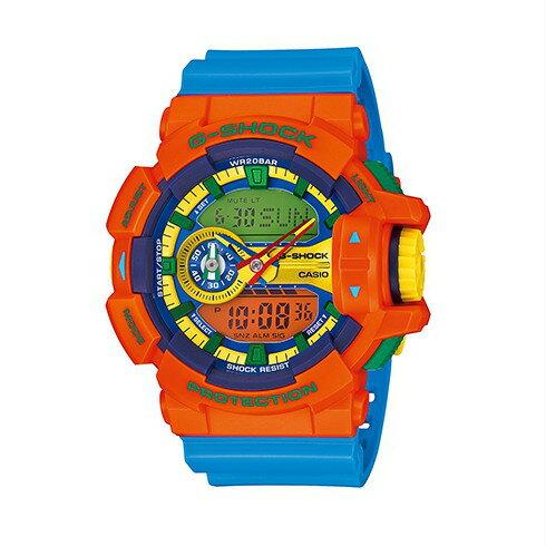 CASIO G-SHOCK GA-400-4A亮麗多彩雙顯流行腕錶/51mm
