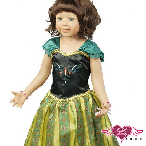 天使甜心 HR141112綠黑 冰雪奇緣 公主安娜ANNA禮服 兒童角色扮演服 萬聖節 耶誕裝 表演服