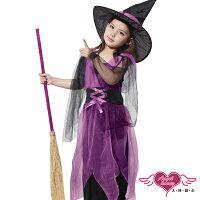 萬聖節Halloween到天使甜心 TH1413黑紫 魔法女巫 萬聖節童裝系列 表演服/化裝舞會/角色扮演