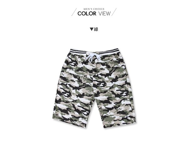 ☆BOY-2☆【JN1071】男短褲 迷彩綁帶休閒短褲 海灘褲 1