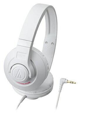 audio-technica 鐵三角 ATH-S300【白】 街頭DJ風格可折疊式頭戴耳機 耳罩式