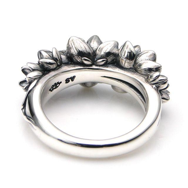 【海外訂購】【KONRON】花滿開托帕石純銀戒指 (KRBCR1064-Wt) 3