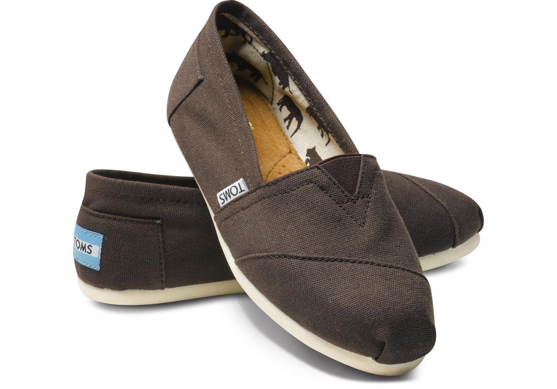 【TOMS】可可色素面基本款休閒鞋  Chocolate Canvas Women's Classics 0