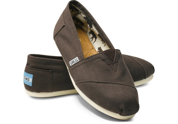 【TOMS】可可色素面基本款休閒鞋  Chocolate Canvas Women's Classics