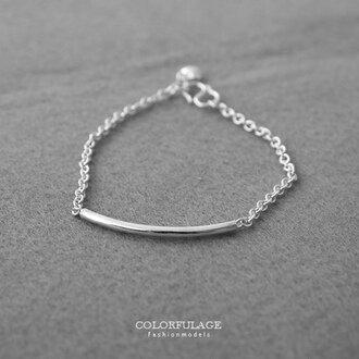 S扣環925純銀手鍊 簡約線條感手環 質感純銀手鍊 愛心小墜可愛加分 柒彩年代【NPA352】風格極簡 0