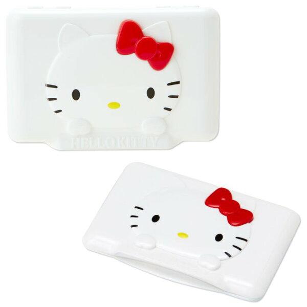 【真愛日本】15073000009濕紙巾蓋-KT大臉紅結 三麗鷗 Hello Kitty 凱蒂貓 濕紙巾蓋 嬰兒用品
