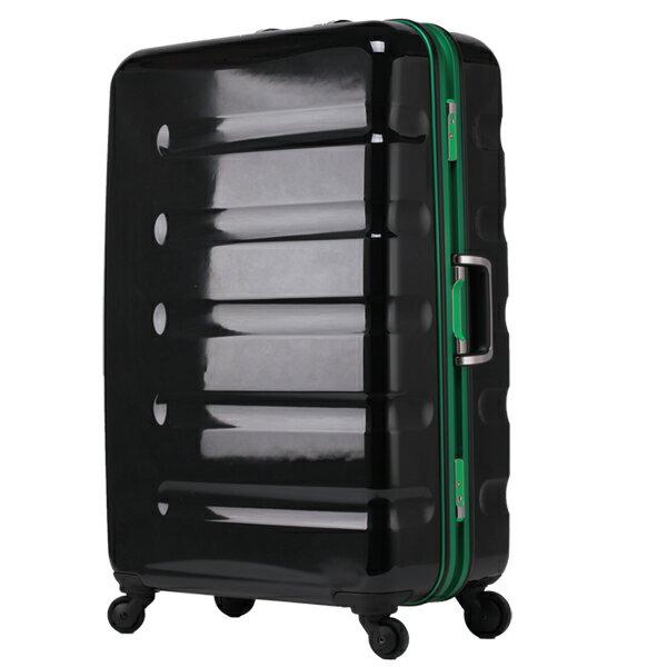 日本 LEGEND WALKER 6016-70-28吋 鋁框輕量行李箱 黑綠