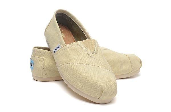 【TOMS】米色素面基本款休閒鞋  Natural Canvas Women's Classics