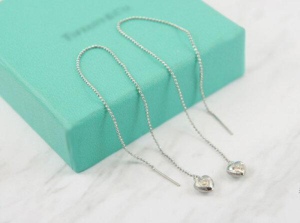 2384045愛心活動式金屬鍊條耳環、耳扣、耳勾、耳針、耳飾