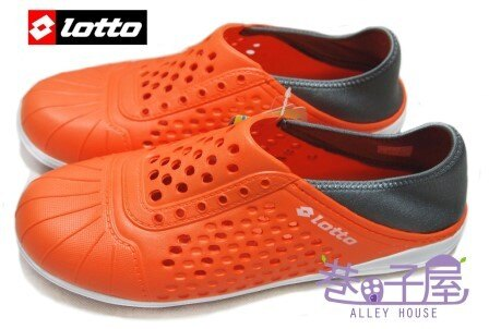 【巷子屋】義大利第一品牌-LOTTO樂得 涼暑上市-洞感兩穿輕便鞋 [2723] 桔 超值價$390