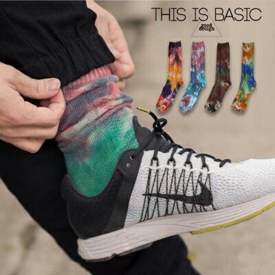 柒零年代【N9015J】厚實感不規則彩色渲染針織長筒襪cosy