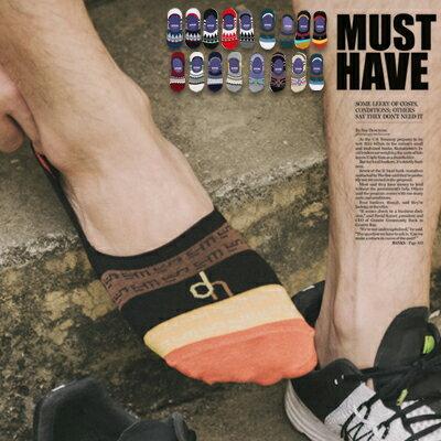 柒零年代【N9069J】民族風幾何條紋撞色止滑矽膠船型襪/踝襪calm