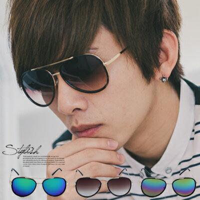 柒零年代【N9183J】雷朋風格金屬雙配色水銀鏡面墨鏡(3419)Sun