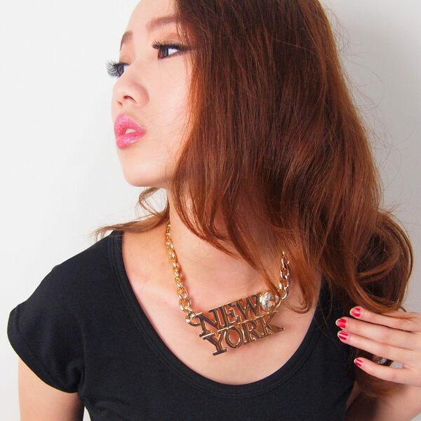 Anna S. 項鍊 嘻哈個性歐美街頭風 NY紐約愛心 韓劇明星款 特價299