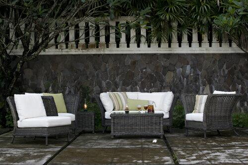 BALI 峇里 雙人沙發 戶外家具【7OCEANS七海休閒傢俱】REDDISH GREY 復古刷灰色 1