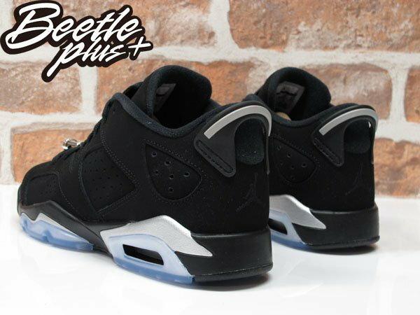 女鞋 BEETLE NIKE AIR JORDAN 6 RETRO LOW BG GS 黑銀 黑白 768881-003 2