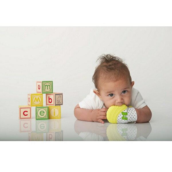 美國【Munch Mitt】手咬樂手套固齒器 (黃色) 2~5個月使用 2