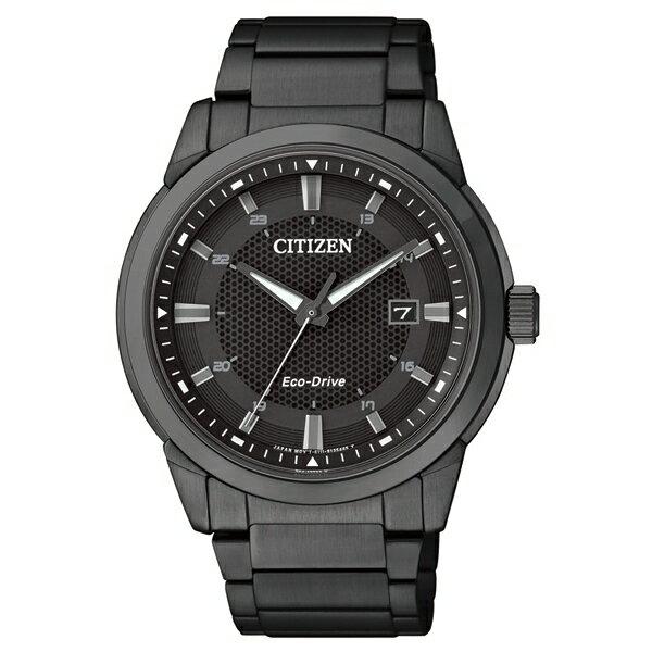 CITIZEN星辰BM7145-51E炫黑都會光動能腕錶/黑面41mm