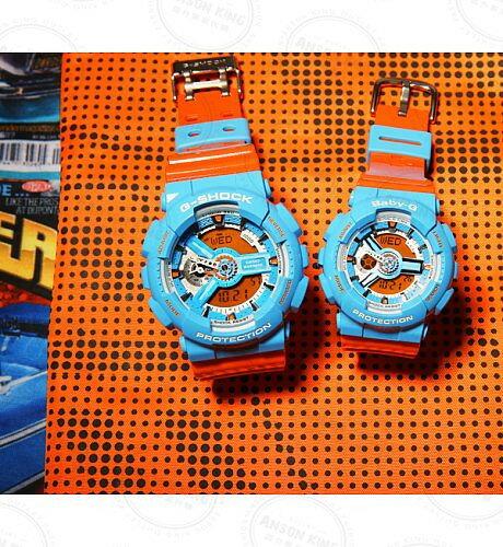 國外代購CASIO BABY-G BA-110NC-2A 藍橘 雙顯 防水 手錶 腕錶 情侶錶 3