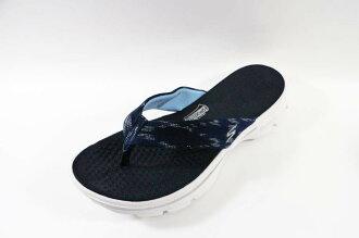 [陽光樂活]SKECHERS (女) 健走系列 GO Walk 瑜珈鞋墊 人字 拖鞋 - 14254NVW (深藍)