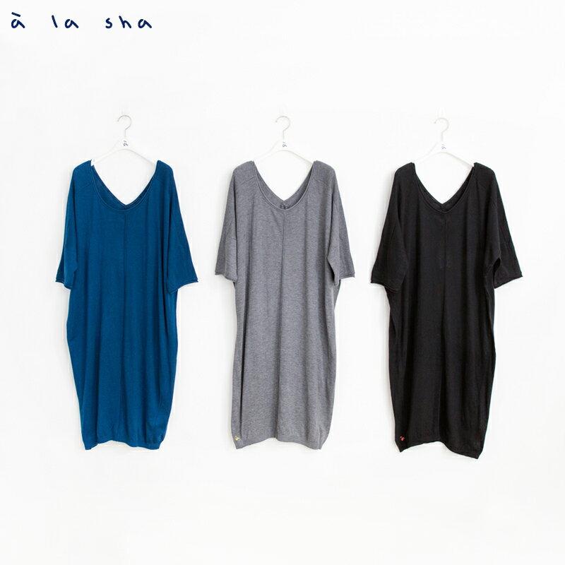 a la sha mucha 簡約設計感長版針織衫 3