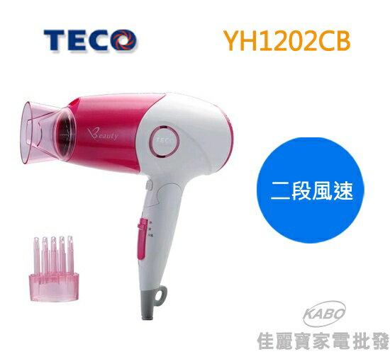 【佳麗寶】-TECO 東元 負離子吹風機 YH1202CB