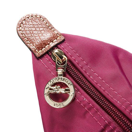 [2605-S號]國外Outlet代購正品 法國巴黎 Longchamp  長柄 購物袋防水尼龍手提肩背水餃包 覆盆紫 3