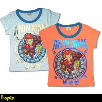 【Lapis】A20140340-1正韓純棉鋼鐵人上衣T恤-2色