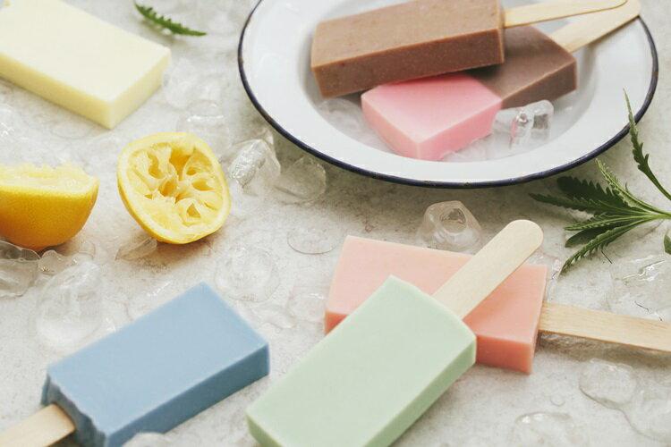 《雪文洋行》沁透快樂冰棒皂-義大利的綠檸檬 (檸檬薑)72%馬賽皂-70g 2