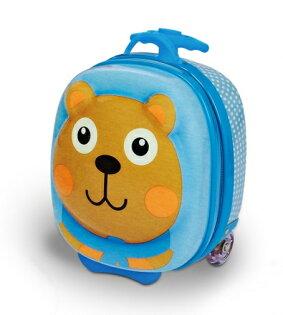 【淘氣寶寶】瑞士【Oops】歐歐皮 烏噗司-快樂行李箱(大熊)【歐盟CE、德國萊因TUV 、美國材料協會ASTM認證】