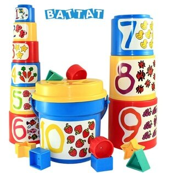 【淘氣寶寶】美國B.Toys感統玩具-大口疊疊杯_Battat系列