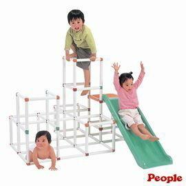 【淘氣寶寶】日本 people 4層攀爬架滑梯組 YG104【親子討論區熱烈反應推薦】