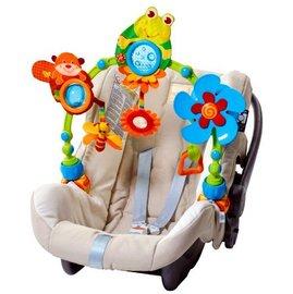 【淘氣寶寶】Tiny Love 造型轉盤拉球玩具/嬰兒手推車汽座提籃/夾置玩具 0+ (青蛙)Tiny Love My Nature Plus Stroll Arch