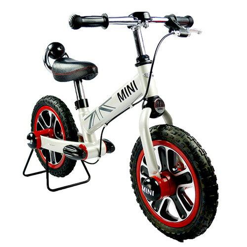 【淘氣寶寶】英國授權Mini Cooper 兒童滑步平衡車12吋(白)(腳架需另購)【贈:天然草本抗菌洗手乳250ml/原價399元】