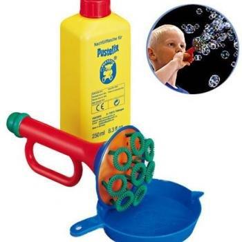 【淘氣寶寶】德國 Pustefix Multi bubble trumpet 魔力泡泡喇叭250ml)【不逆流吹嘴設計不誤食】