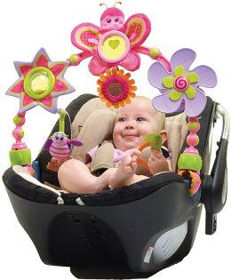 【淘氣寳寳】Tiny Love 造型轉盤拉球玩具/嬰兒手推車汽座提籃/夾置玩具 0+ (蝴蝶)Tiny Love Betty Butterfly Stroll Arch