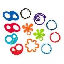 【淘氣寶寶】美國 Kids II-Oball 豪華洞動連接環玩具組【可連接在提籃汽座,推車,睡床】