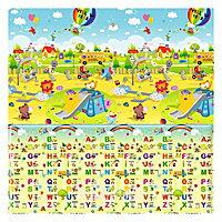 【淘氣寶寶】【原裝進口】韓國製Parklon 帕龍地墊雙面PVC包邊款【溜滑梯.ABC】(190*130*1.5cm)