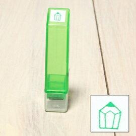 「Kodomo小孩牌」手帳小印章 - 338鉛筆(綠)