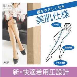 【沙克思】GUNZE IFFI 美肌彈性褲襪 特性:新快適著壓設計+美肌加工+立體褲型+具褲叉+足型設計+腳尖補強+前後標示 (郡是 グンゼ 襪子 女襪 絲襪)