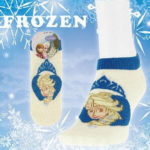 【沙克思】FROZEN 色槓口蘑菇皇冠愛心內艾莎公主女滑板襪 特性:舒適棉混編織+蘑菇素材加工+冰雪奇緣超人氣卡通 (Disney Elsa 冰雪奇緣 襪子 女襪)