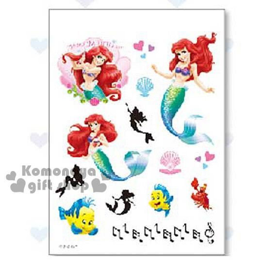〔小禮堂〕迪士尼 小美人魚 紋身貼紙~貝殼.朋友~