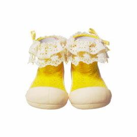 【悅兒樂婦幼用品舘】韓國Attipas快樂腳襪型學步鞋-AW01-淑女黃(M/L/XL)