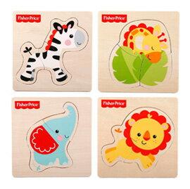 【悅兒樂婦幼用品舘】Fisher-Price 費雪 木質玩具系列-可愛動物巧拼板