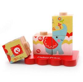 【悅兒樂婦幼用品舘】Fisher-Price 費雪 木質玩具系列-可愛動物配對方塊