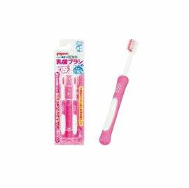 【悅兒樂婦幼用品舘】PIGEON 貝親 第四階段訓練牙刷-2入 (粉)