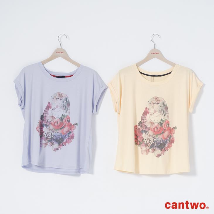 cantwo糖果色花朵女孩短袖T(共三色) 5