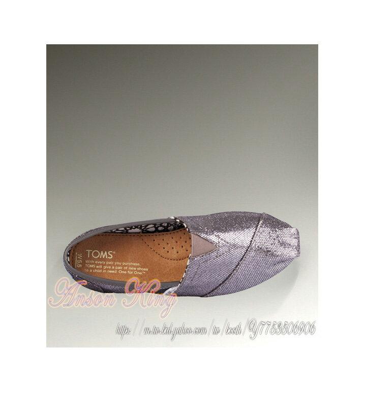 [女款] 國外代購TOMS 帆布鞋/懶人鞋/休閒鞋/至尊鞋 亮片系列  灰色 3