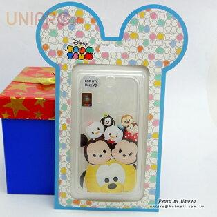 【UNIPRO】HTC ONE M8 迪士尼 Tsum Tsum 疊疊樂 布魯托 米奇米妮 透明 TPU 手機殼