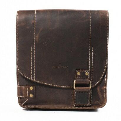Woodland Leather City Limits Leather Upright Messenger Bag (vintage brown) 0